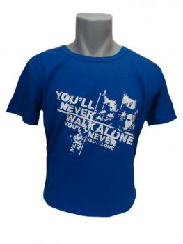 T-Shirt You'll never walk alone Faces blau