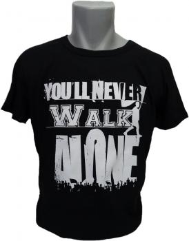 T-Shirt You'll never walk alone Flag schwarz